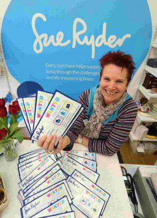 APPEAL: Sharon Wiley wants more stock for Sue Ryder charity shops
