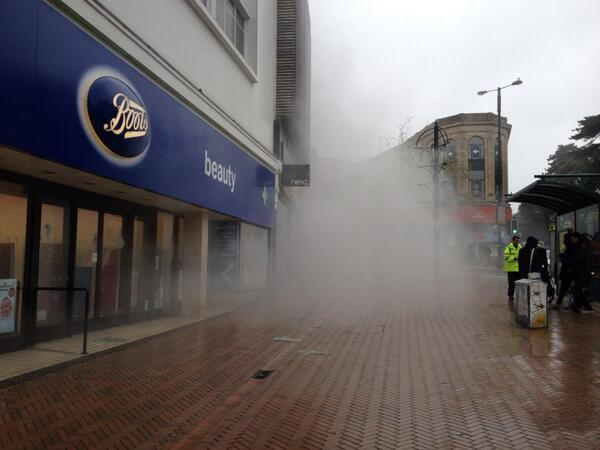 Smoke seen billowing from Boots in Bournemouth Square