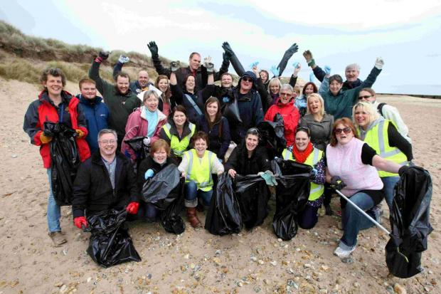 M&S staff at Solent Beach, Southbourne, as part of last year's efforts