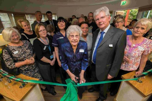 Ada Newman reopens the newly- renovated facilities at Forest Holme Hospice