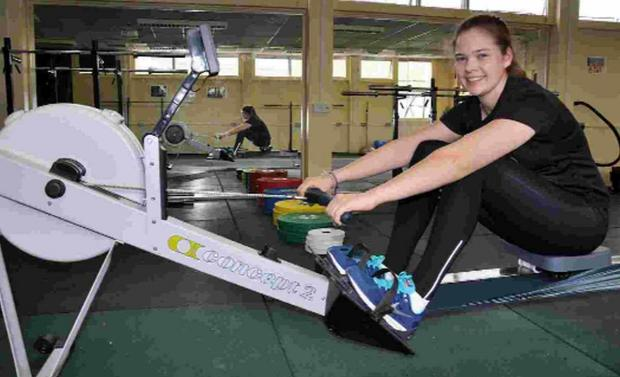 TALENTED: Lizzie Lander, who was selected to train with the GB Olympic Rowing squad, at her school, the LeAF Studio in Bournemouth