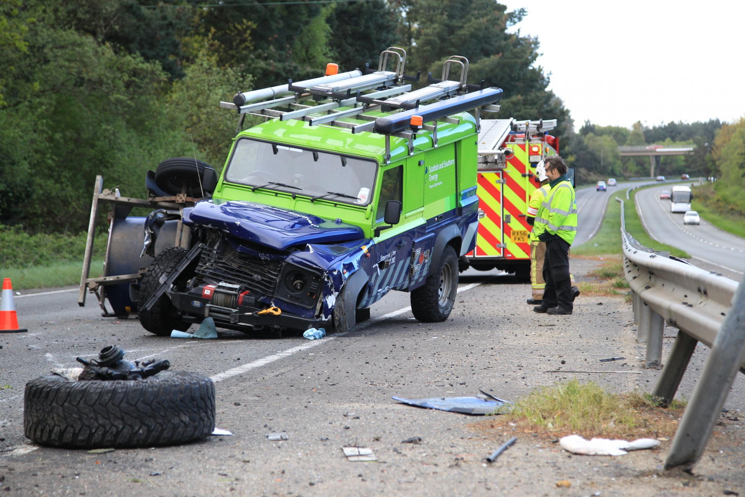 UPDATE: A338 out of Bournemouth shut for hours after vehicle and trailer overturns