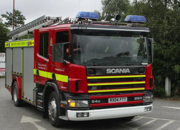 Man taken to hospital after chip pan fire at home