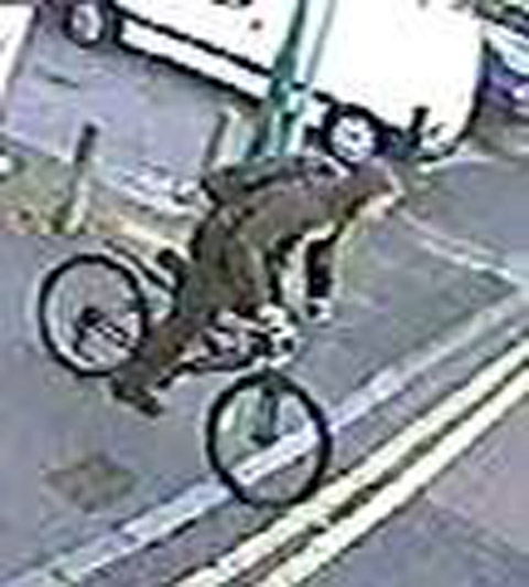 CCTV released in bid to find cyclist who broke OAP's hip after pavement cycle row