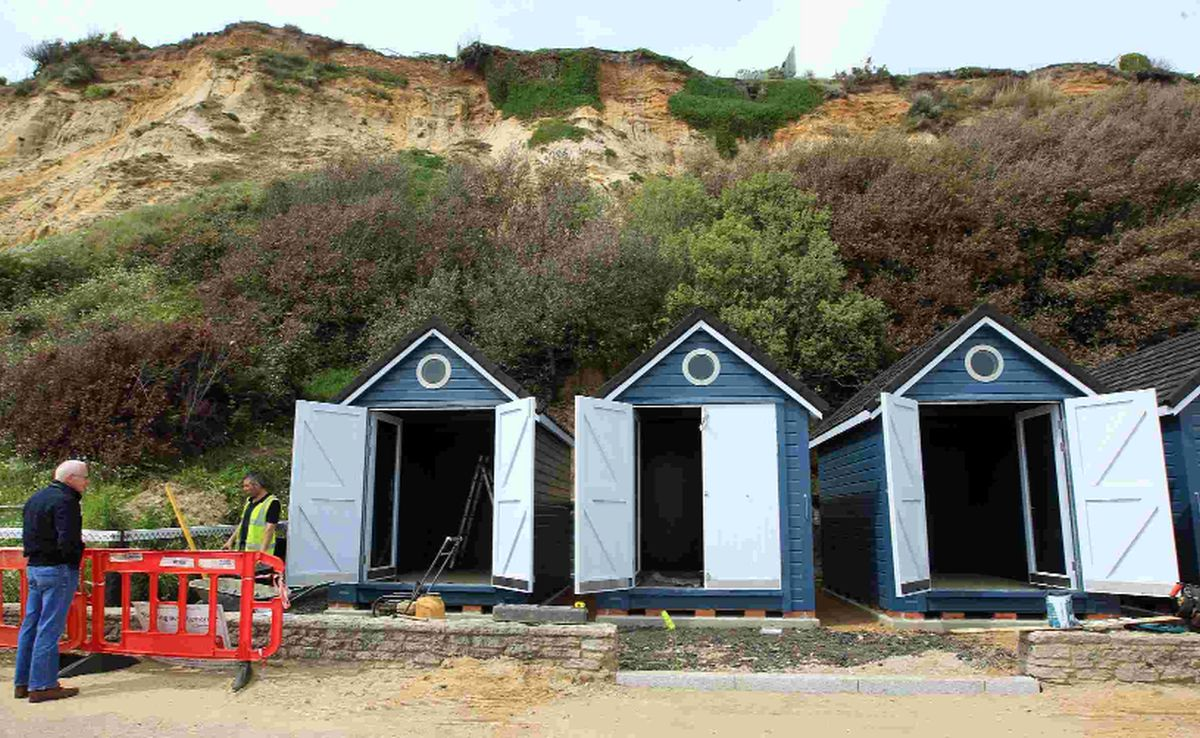 'Super huts' at Alum Chine