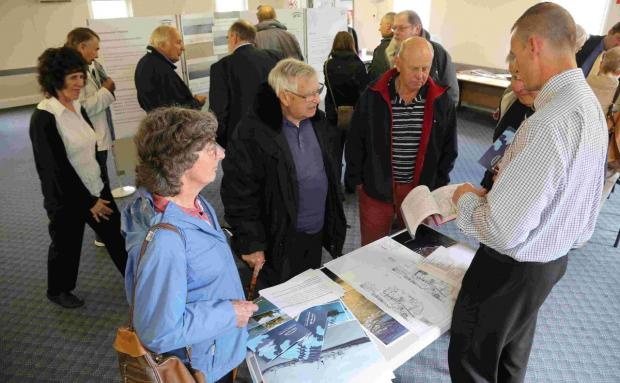 FORGING AHEAD: Plans on display showing Poole Harbour Commissioners' proposals