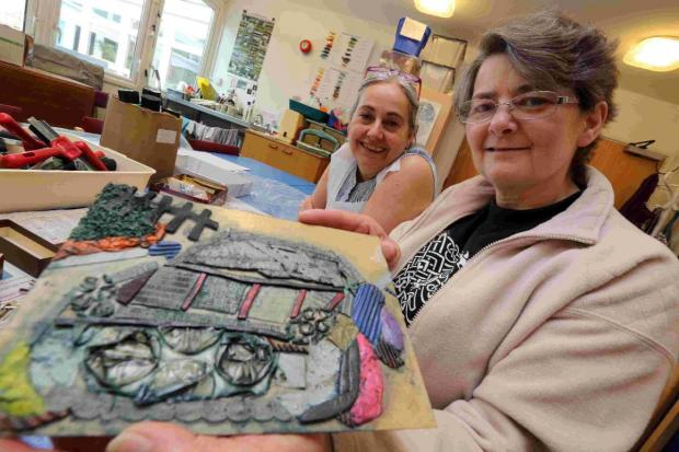 ACCESSIBLE ART:  Pauline Stanley with student Annette Courtney