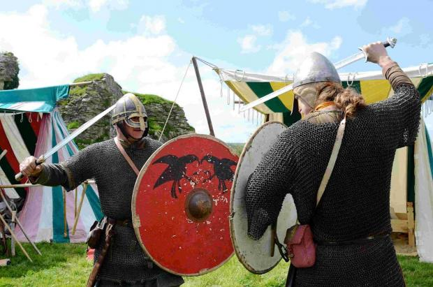 Bournemouth Echo: IN BATTLE: Saxons and Vikings at Corfe Castle