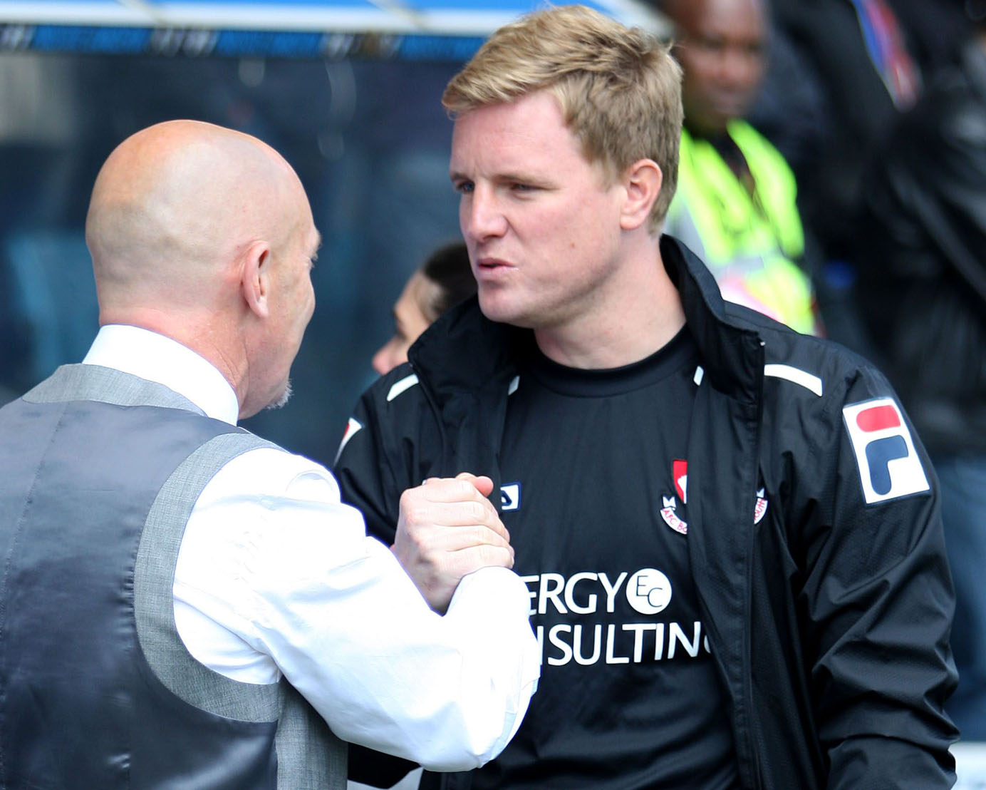 CHERRIES BOSS: Eddie Howe, pictured with Millwall's Ian Holloway