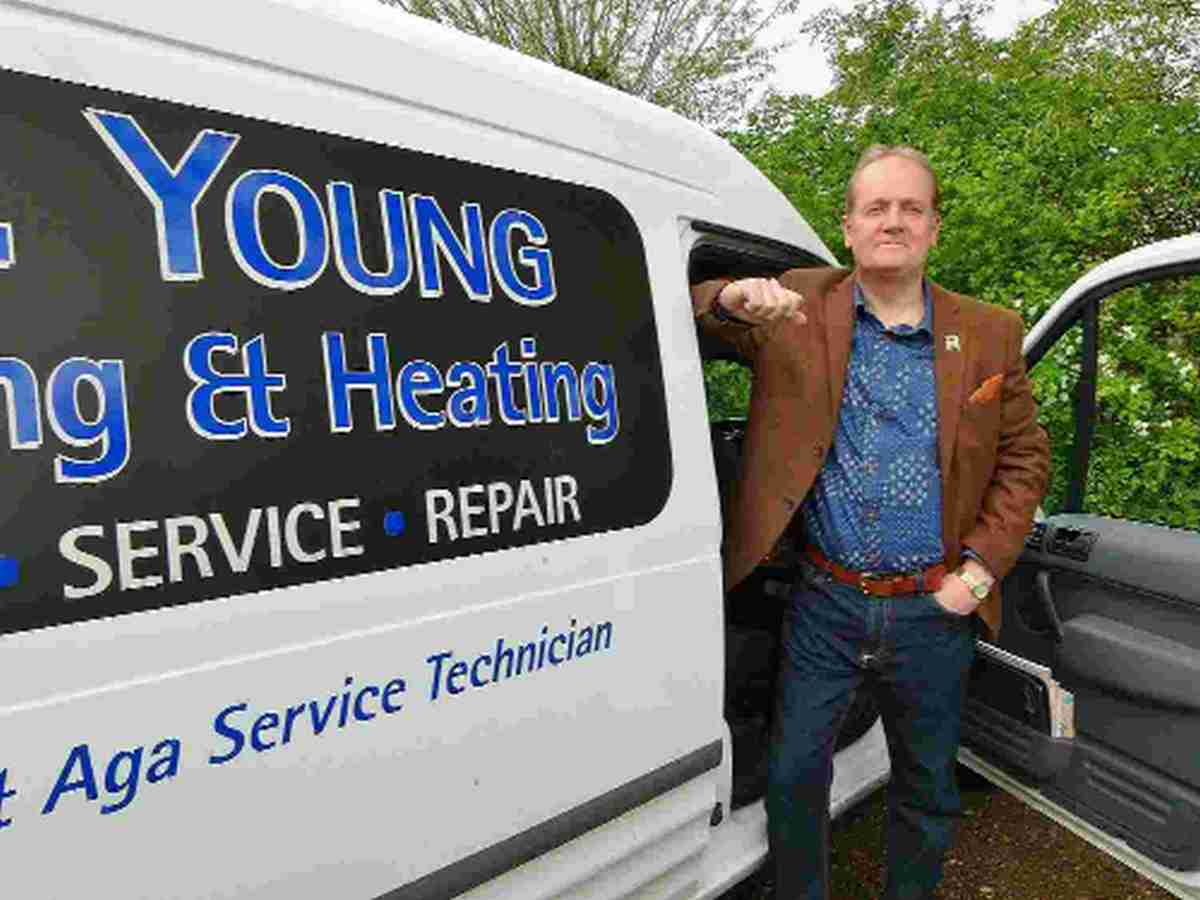MANOR: Stephen Young, owner of oil heating maintenance company SD Young, who now styles himself Lord of Westbury