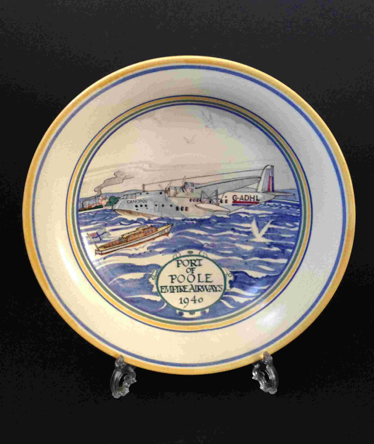 The Port of Poole Empire Airways dish that will go up for auction
