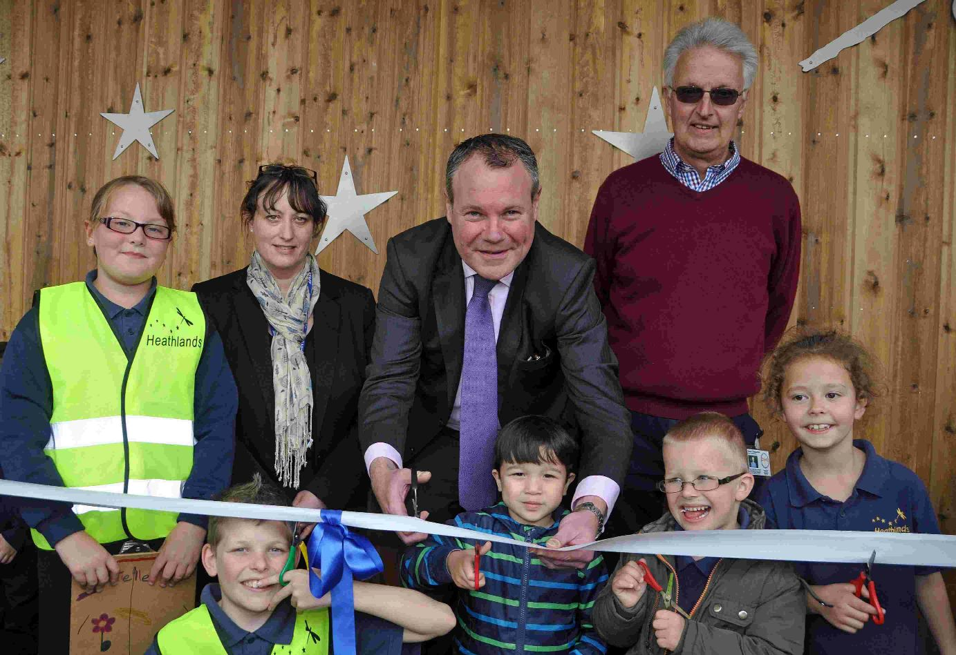 RIBBON CUTTING: MP Connor Burns with pupils, head teacher Sarah Dunn and chairman of governors David Cheeseman
