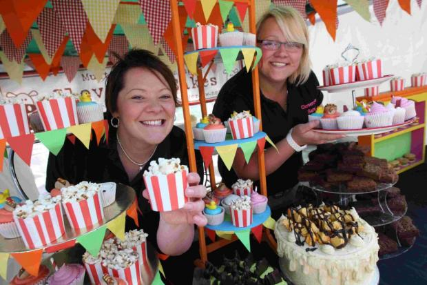 SWEET DELIGHT: Jennie Langridge and, right, Sarah Bradley of Clevercow Cakes