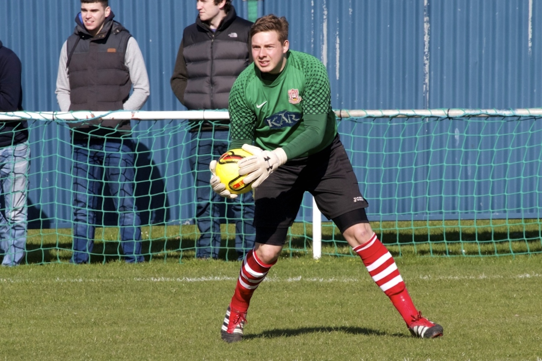 WEMBLEY BOUND: Bournemouth & Poole College lecturer and Sholing goalkeeper Matt Brown
