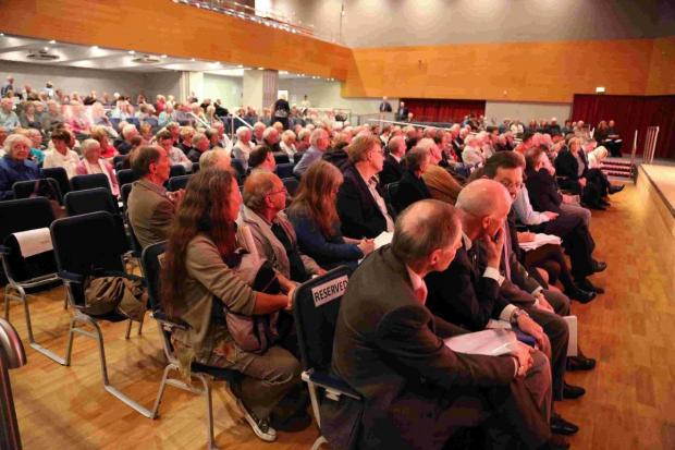 Bournemouth Echo: FRANK VIEWS: The meeting attracted more than 600 people