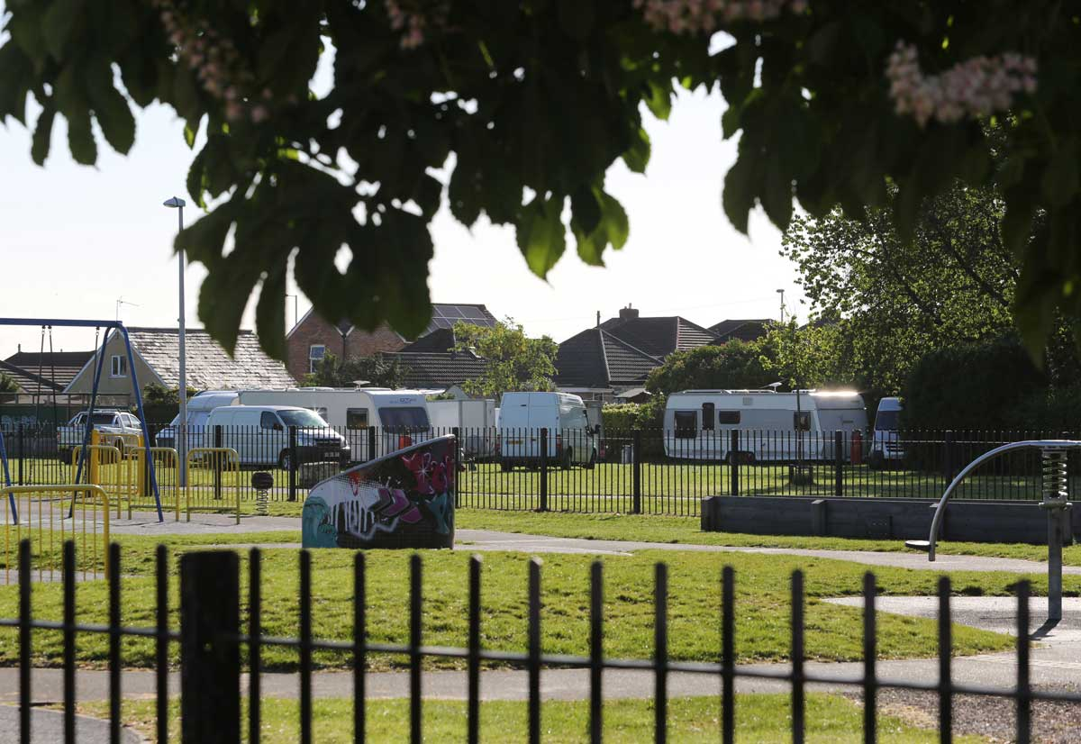 UPDATE: Travellers set-up camp on Poole recreation ground and Baiter car park
