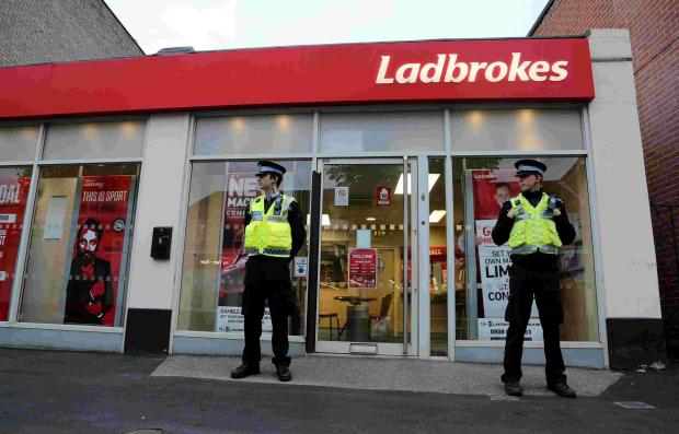 Ladbrokes on Christchurch Road, Pokesdown, following alleged armed robbery