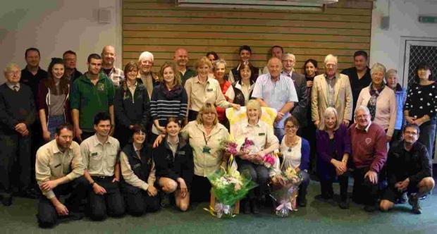 Moors Valley officer Pam retires after 16 years greeting visitors