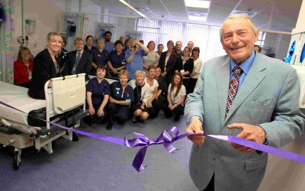Bournemouth Echo: CUTTING EDGE:  Dr Alistair Somerville-Ford opens the newly-refurbished Endoscopy Ward at Poole Hospital