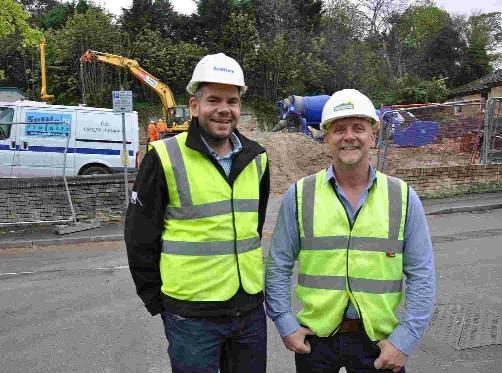 Steve Wells, left, of DWP Housing Partnership, and Rich Fooks, director of Gloosbrook Builders