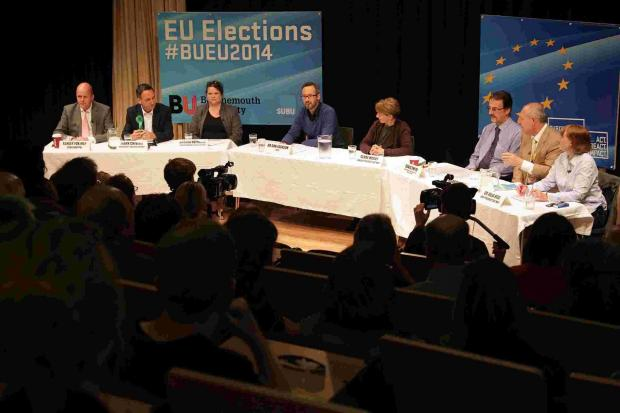 MEP candidates battle it out during heated debate at Bournemouth University