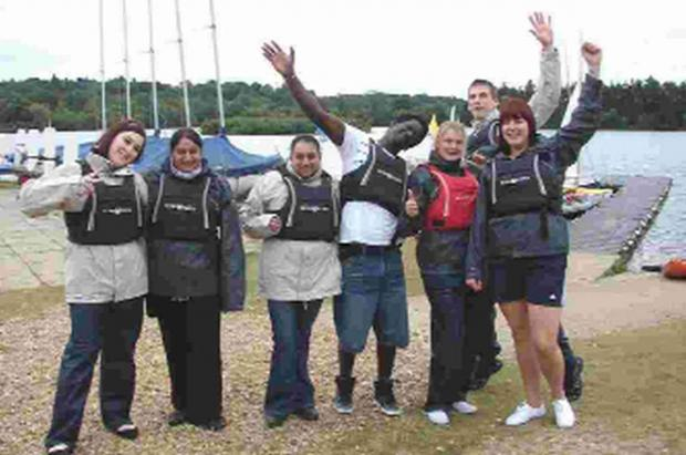GREAT FUN: Young people enjoying a holiday organised by the Youth Cancer Trust