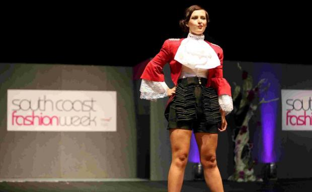 Fashion designers display creations on catwalk at South Coast Fashion Week in Bournemouth