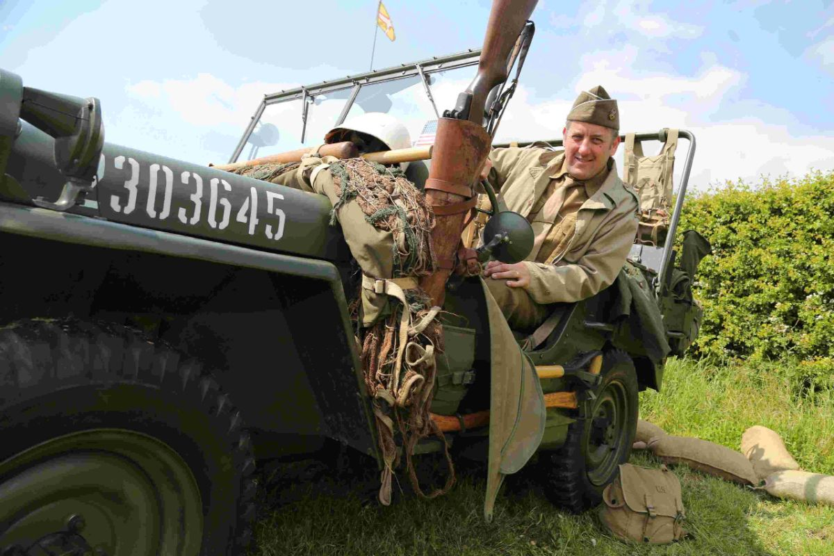 VINTAGE: Richard Gregory of the 29th Infantry Division  re-enactment society
