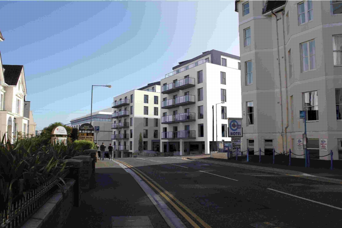 GREEN LIGHT: A computer generated image of the new development to replace the Bournemouth International Hotel and Ocean Palace Restaurant