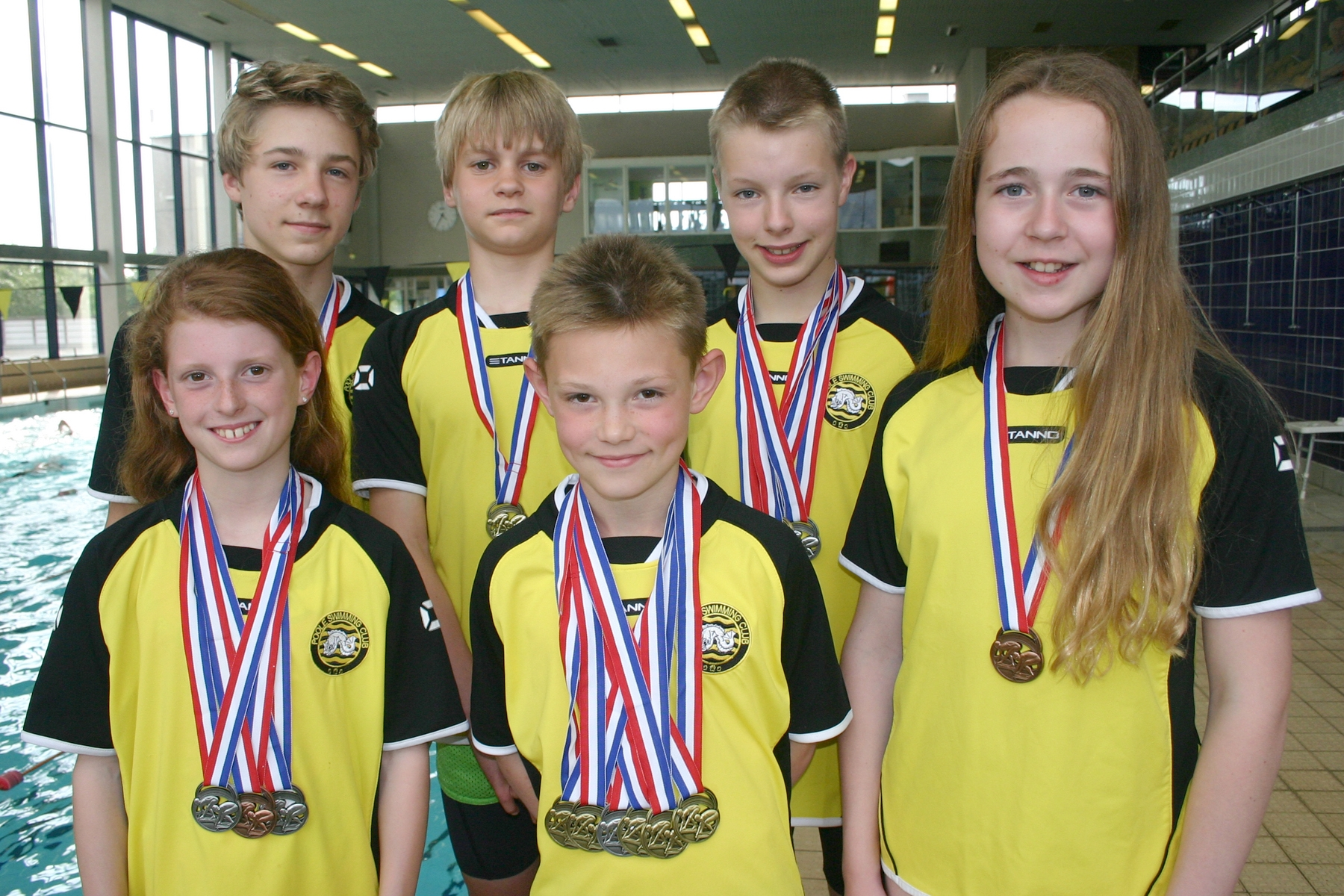 MEDAL HAUL: Poole Swimming Club's winners