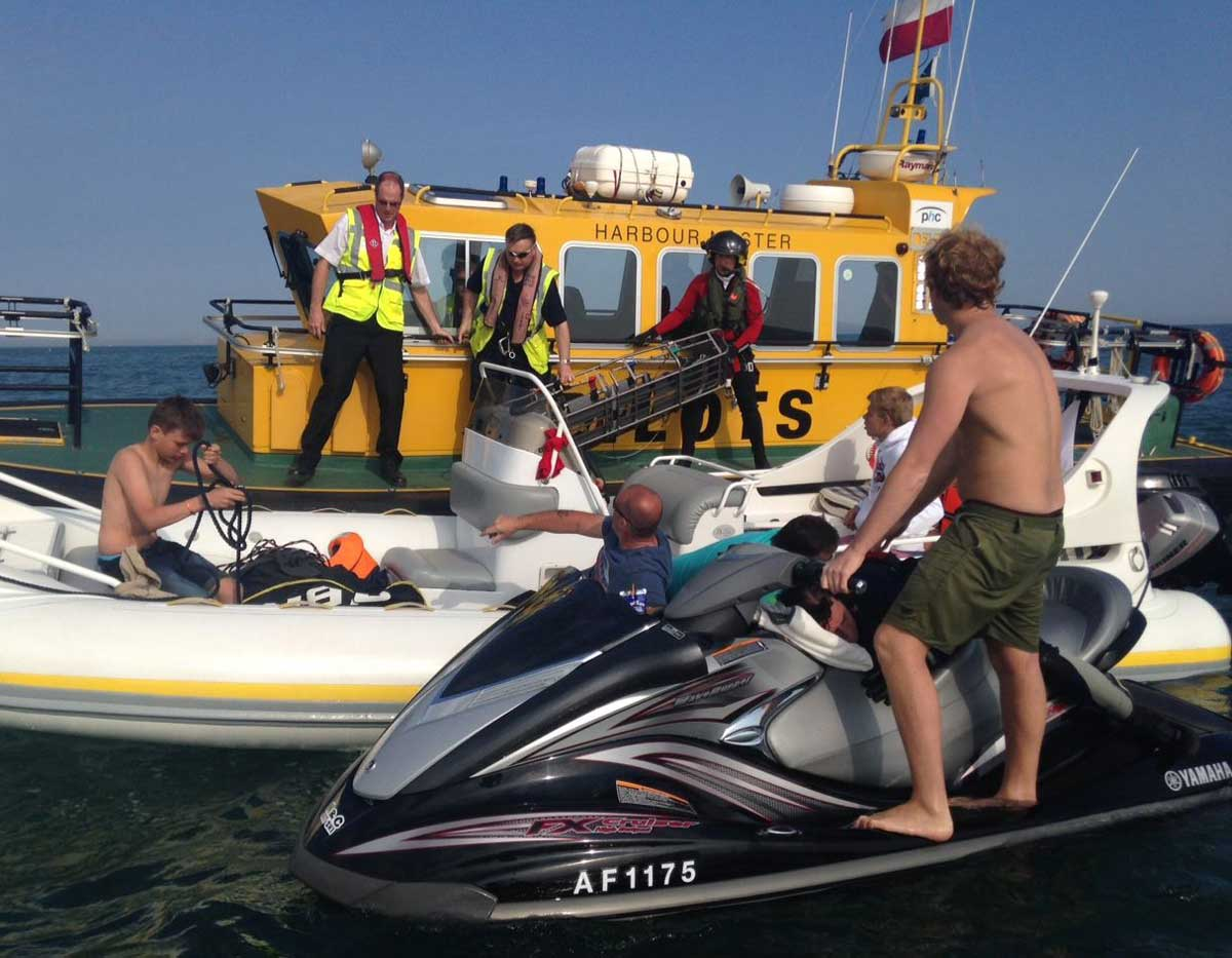 EMERGENCY: Jet-skier with a suspected broken back is rescued