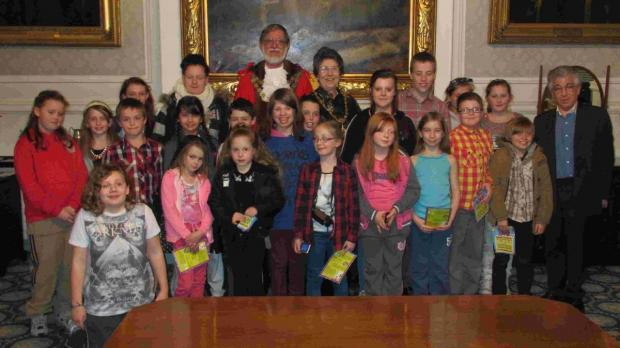 Bournemouth Echo: TIME FOR TEA: Young carers met with Mayor Cllr Rod Cooper and his wife Elaine for tea