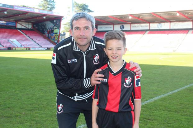 ONE FOR THE FUTURE: Harry Redknapp Jnr (right) with AFC Bournemouth's Matty Holmes