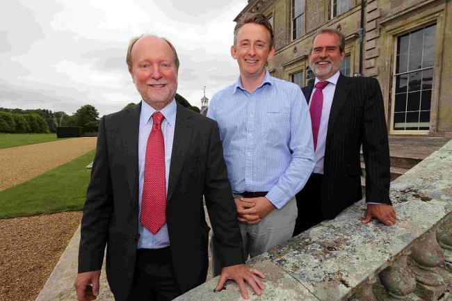 LAUNCH: Organiser Robin Barker, Kingston Lacy general manager Andrew McLaughlin, and Andrew Alder, of Saffery Champness, headline sponsor