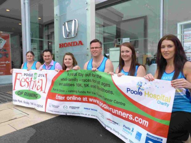 CHALLENGE:  The team from Horizon Magna Group who will be taking on the 10k in the Poole Festival of Running