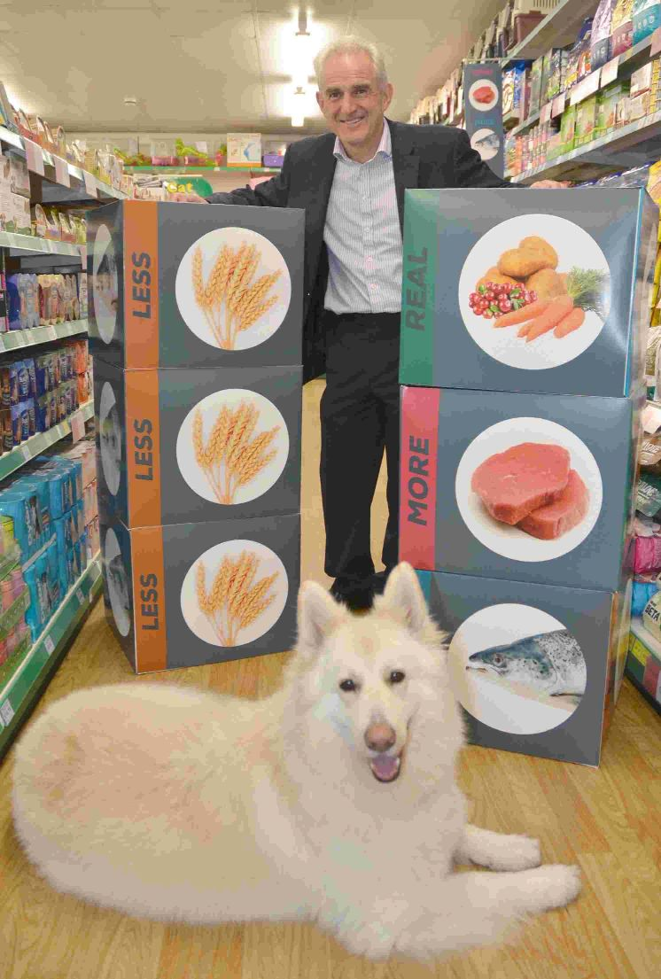 NUTRITIOUS: MD Steve Fowler in the store's new healthy dog food section