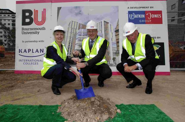 Ground-breaking ceremony at Bournemouth University's new International College building