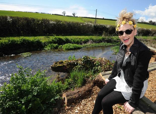 Bournemouth Echo: Perrie on a visit to Cowden Farm near Dorchester