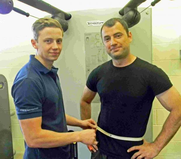 Fitness instructor Elliot Dower and Dan Faracuta from Oxley Sports Centre