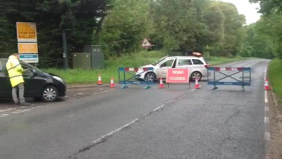 Serious crash closes busy New Forest road