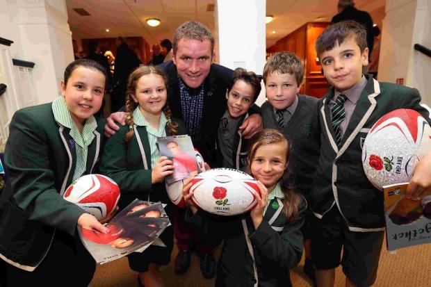 Sport idol: rugby legend Phil Vickery meets aspiring stars of the future