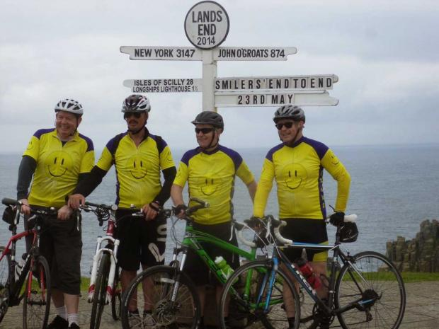 Team battles the elements to raise thousands of pounds for heart charity with cycle ride