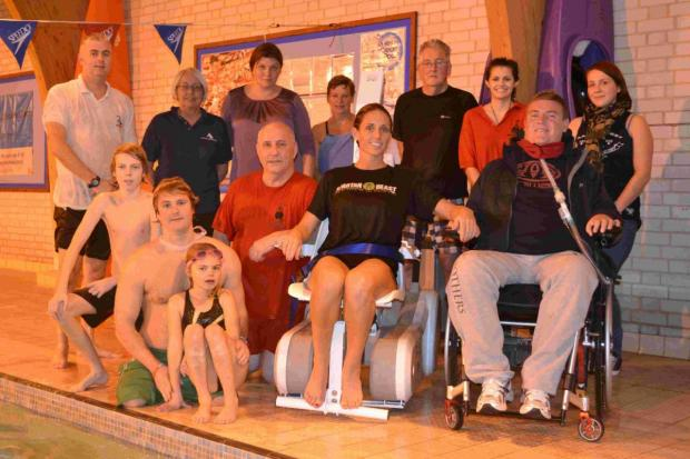Bournemouth Echo: GIVEN A LIFT: Participants in the aquatics course