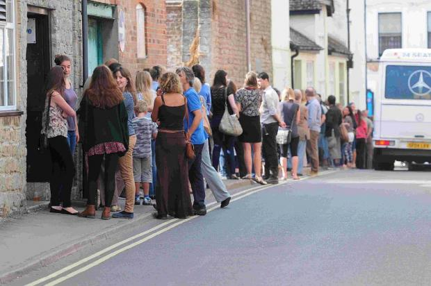 Hundreds queue for a chance to star in upcoming film Far From the Madding Crowd