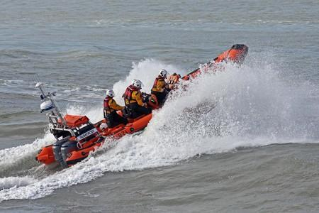 Man taken to hospital after falling in the sea