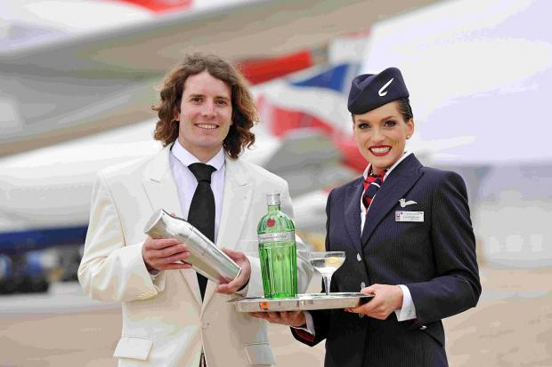 MOVER AND SHAKER: James Fowler's winning cocktail will be served on board British Airways' flights