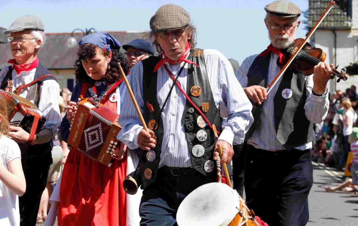 FESTIVITIES: Musicians out in the sunshine at last year's festival