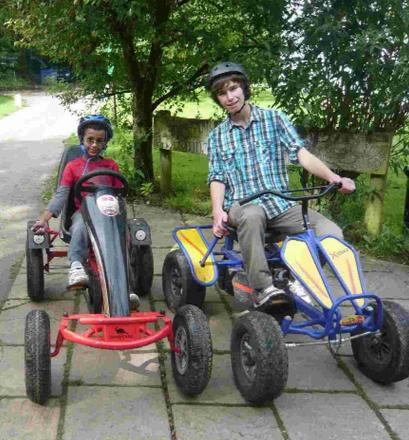 FUN: Student Andy Skinner volunteers with Sense Holidays for deafblind children and adults