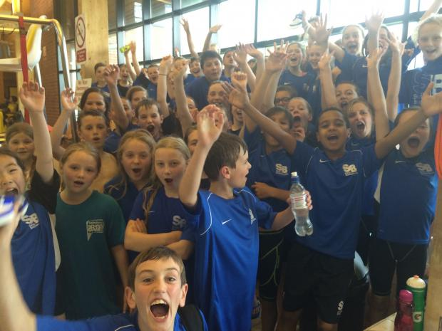 CELEBRATION: Swim Bournemouth after league victory