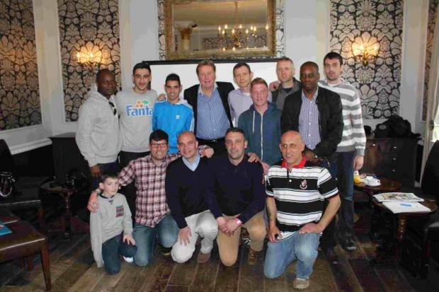 MEET UP: QPR Manager Harry Redknapp with players from BCHA FC